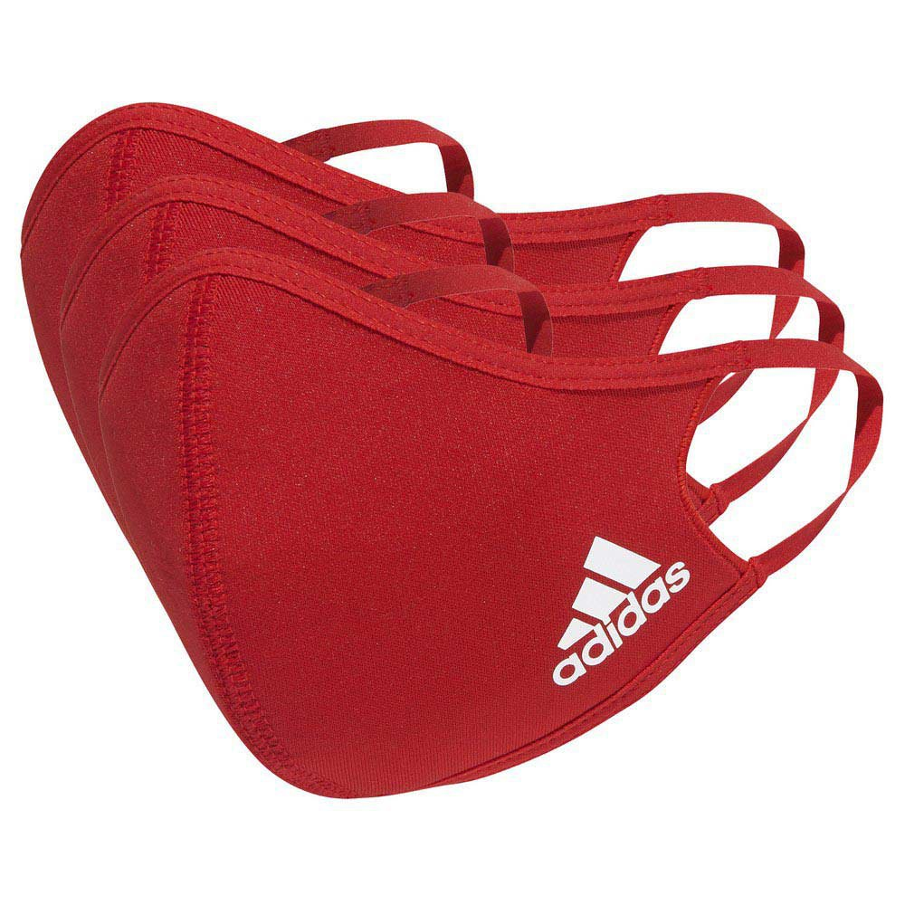 Adidas Face Cover 3 Units M-L Power Red