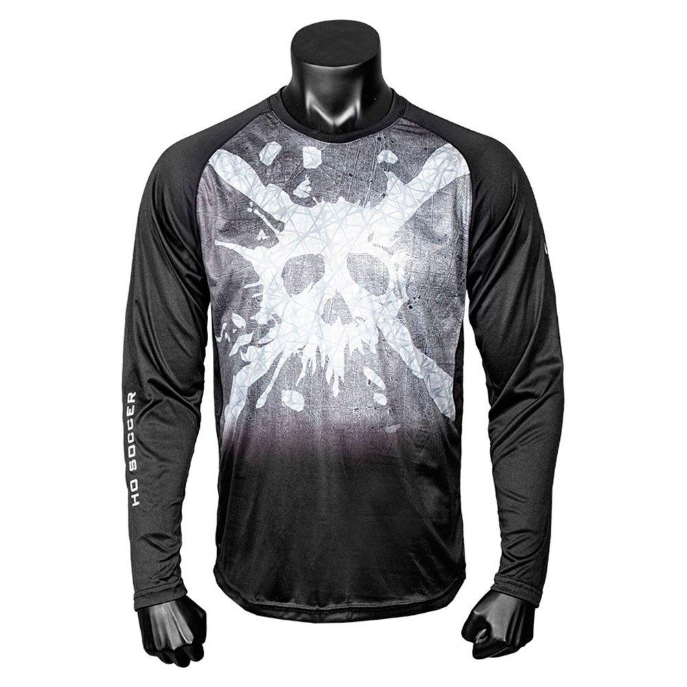 Ho Soccer Skull T-shirt Manche Longue 6 Years Black / White