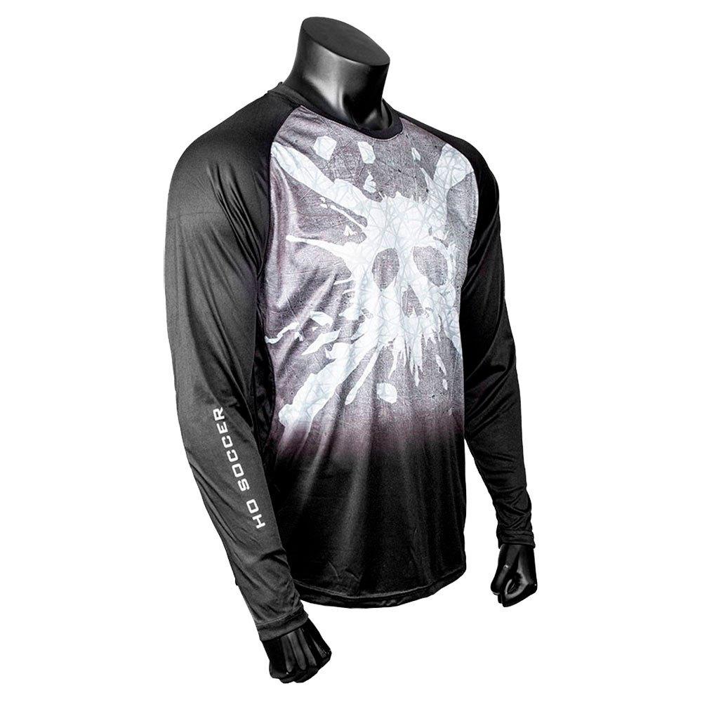 Ho Soccer Skull T-shirt Manche Longue S Black / White