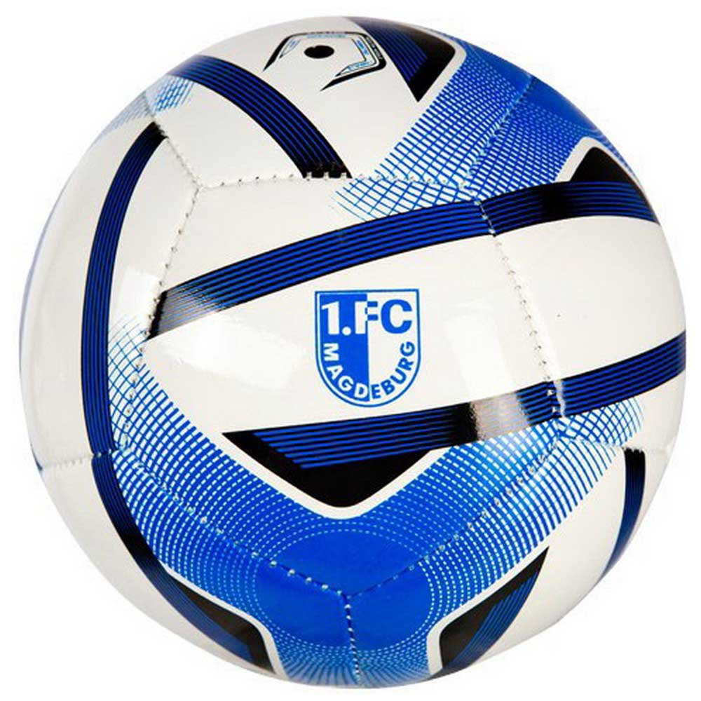 Uhlsport Ballon Football Fc Magdeburg Mini One Size White / Blue