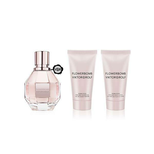 Viktor & Rolf Flowerbomb Eau De Parfum 50 Ml+ Body Lotion 50ml+ Gel Ducha 50ml One Size