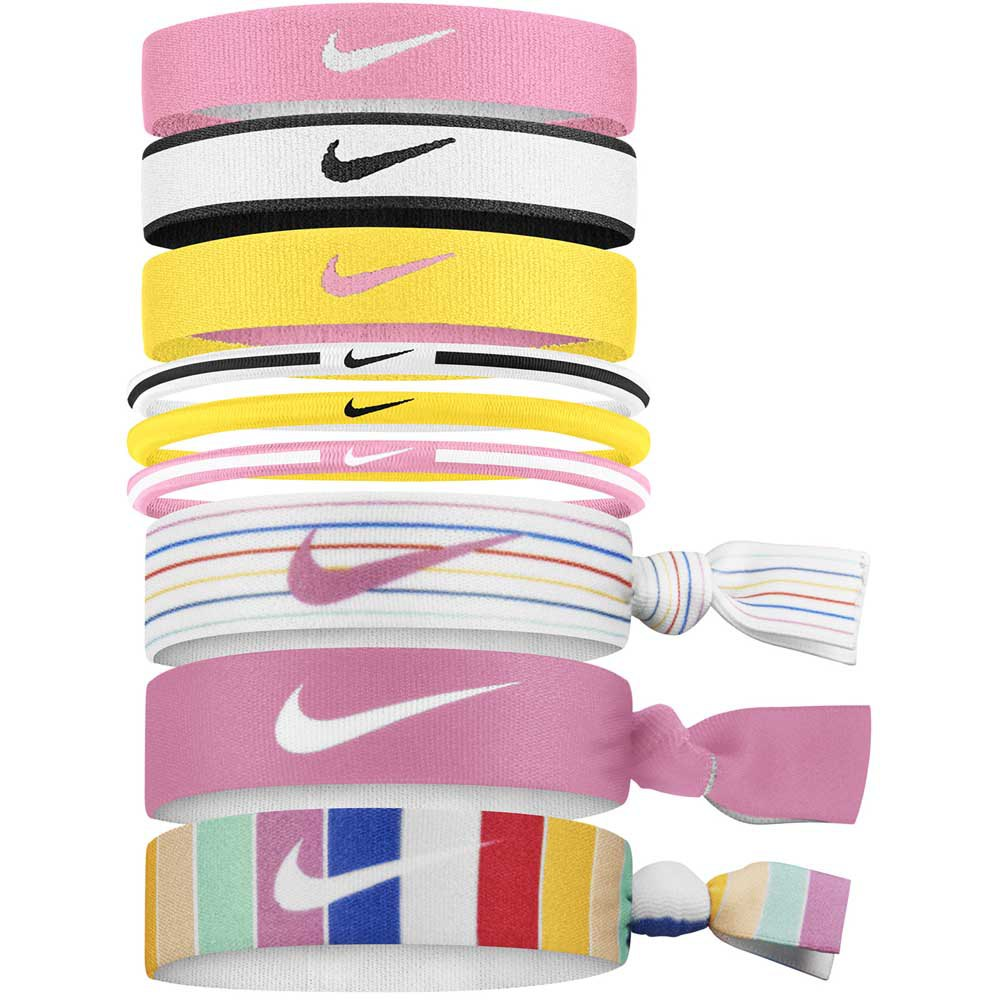Nike Accessories Mixed Ponytail Holder 9 Units One Size Pink / Black / Yellow