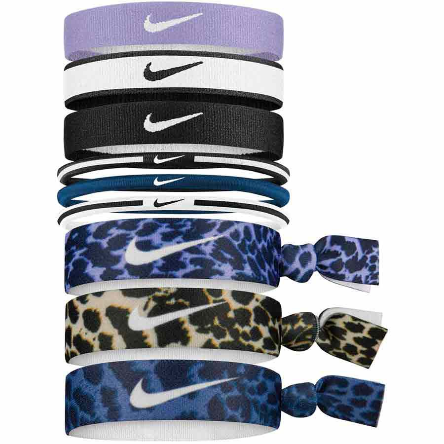 Nike Accessories Mixed Ponytail Holder 9 Units One Size Purple / White / Black