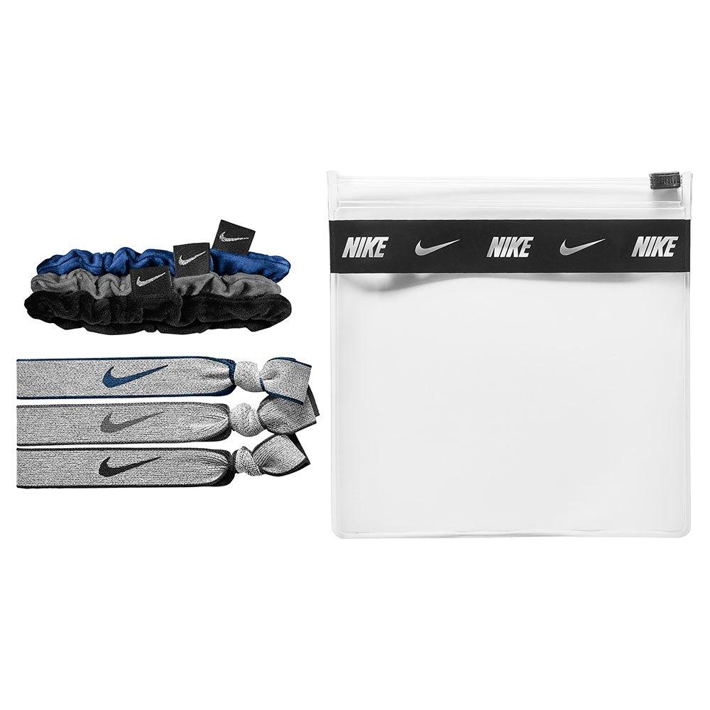 Nike Accessories Pack Velvet Elastic 6 Unités One Size Blue / Grey / Black