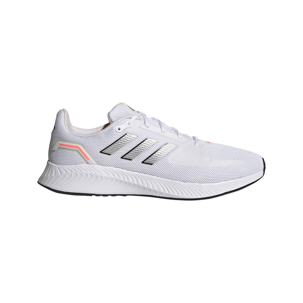 Adidas Runfalcon 2.0 EU 40 2/3 Ftwr White / Silver Met. / Solar Red