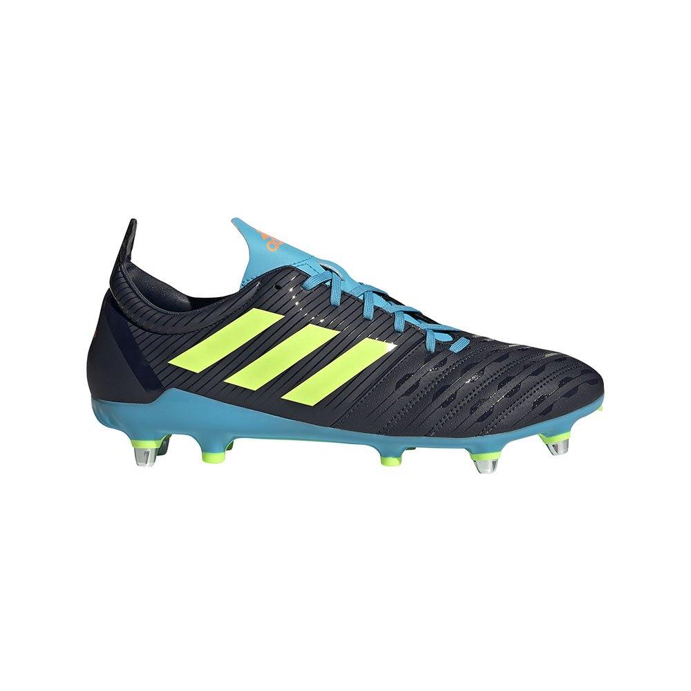 Adidas Malice Sg Rugby Boots EU 40 Legend Ink / Signal Green / Signal Cyan