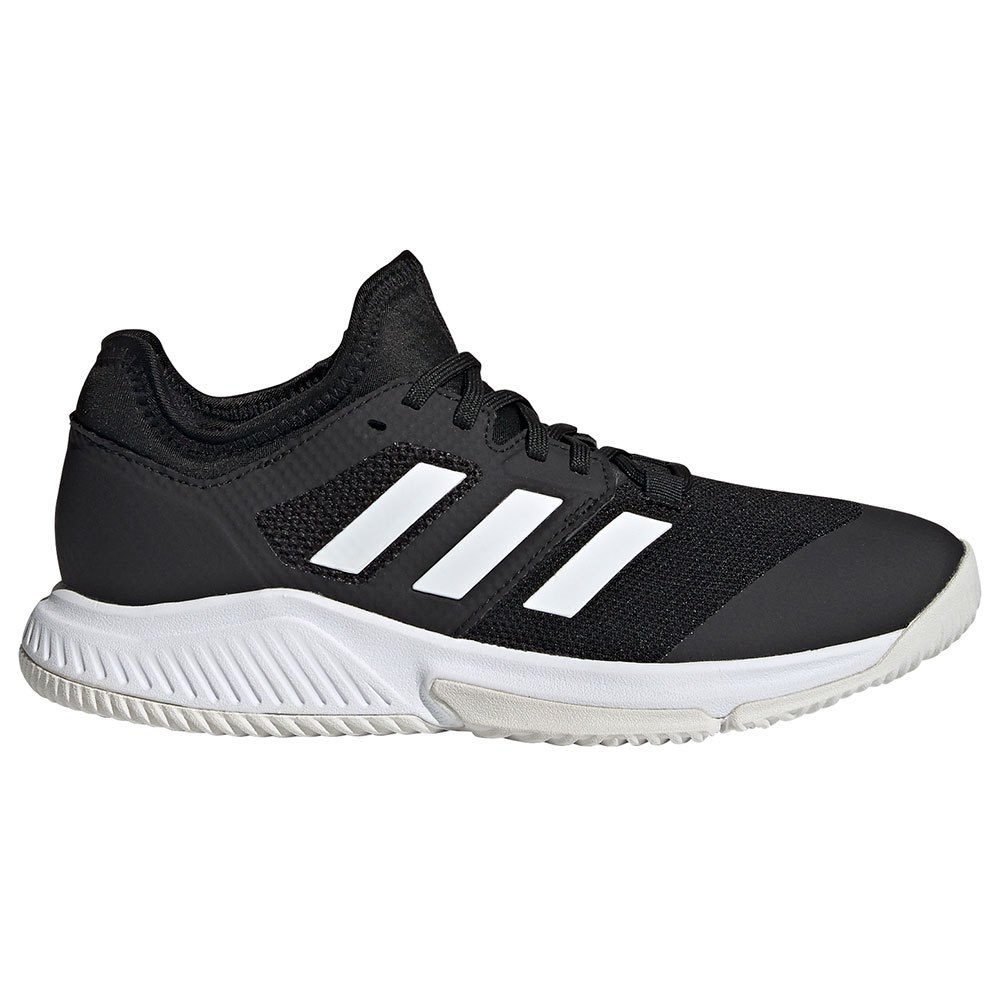 Adidas Chaussures Court Team Bounce EU 45 1/3 Core Black / Ftwr White / Silver Met.
