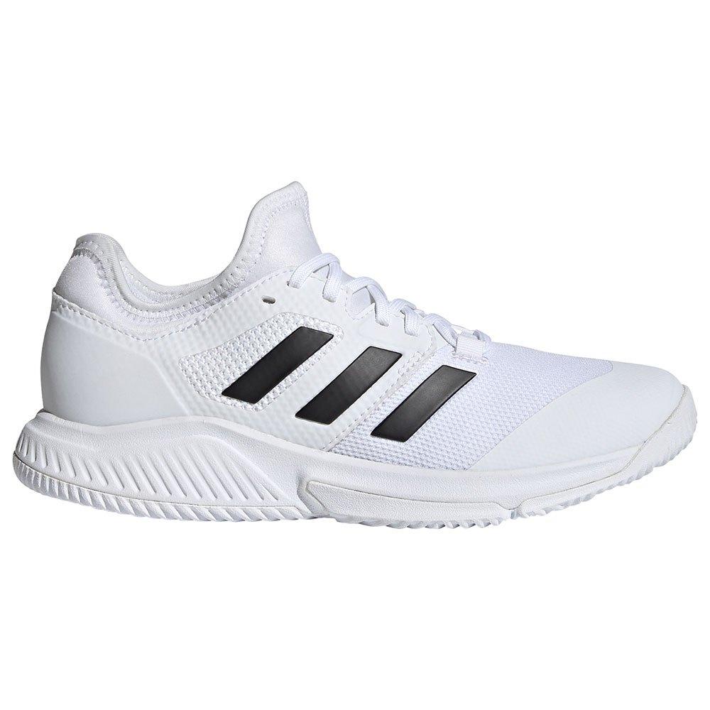 Adidas Chaussures Court Team Bounce EU 45 1/3 Ftwr White / Core Black / Silver Met.
