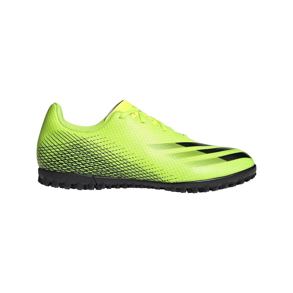 Adidas Chaussures Football X Ghosted .4 Tf EU 48 Solar Yellow / Core Black / Team Royal Blue