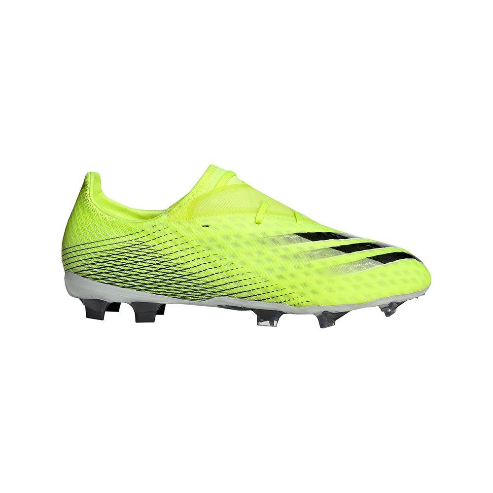 Adidas Chaussures Football X Ghosted .2 Fg EU 44 Solar Yellow / Ftwr White / Team Royal Blue