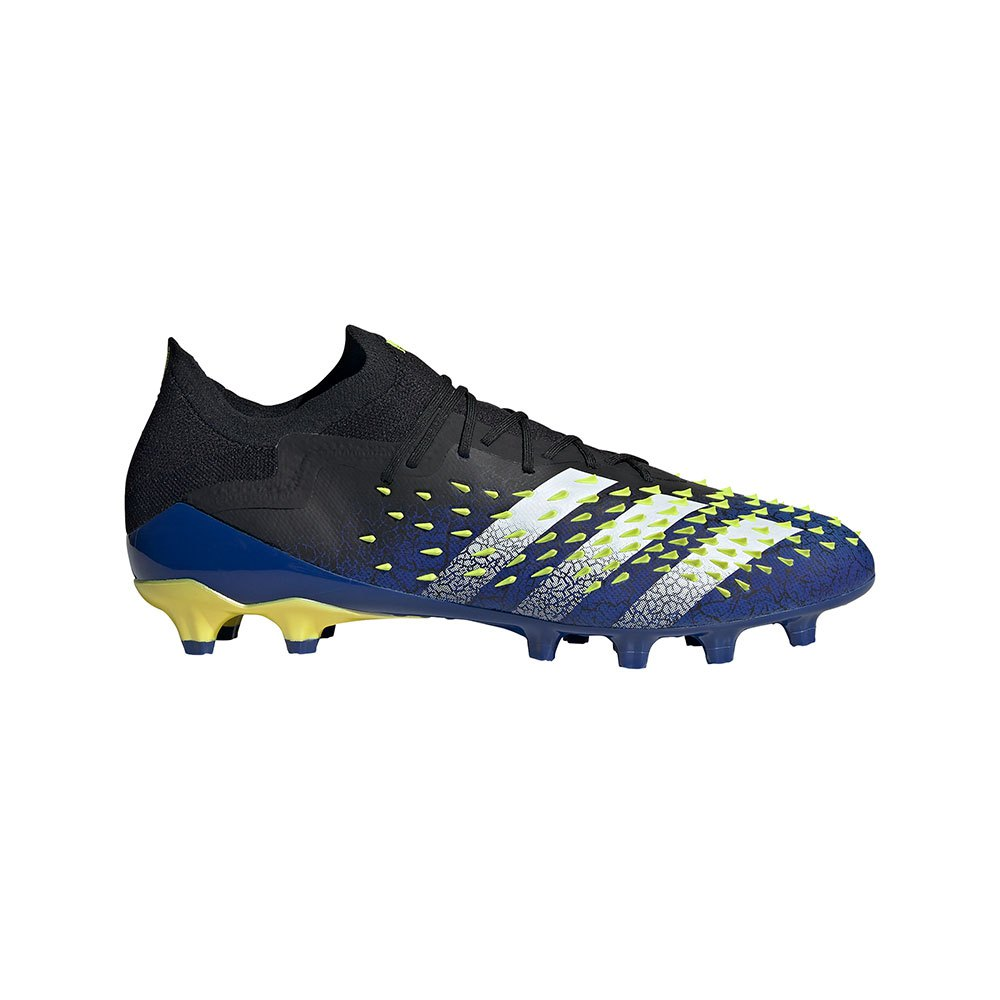 Adidas Predator Freak .1 L Ag Football Boots EU 44 Core Black / Ftwr White / Solar Yellow