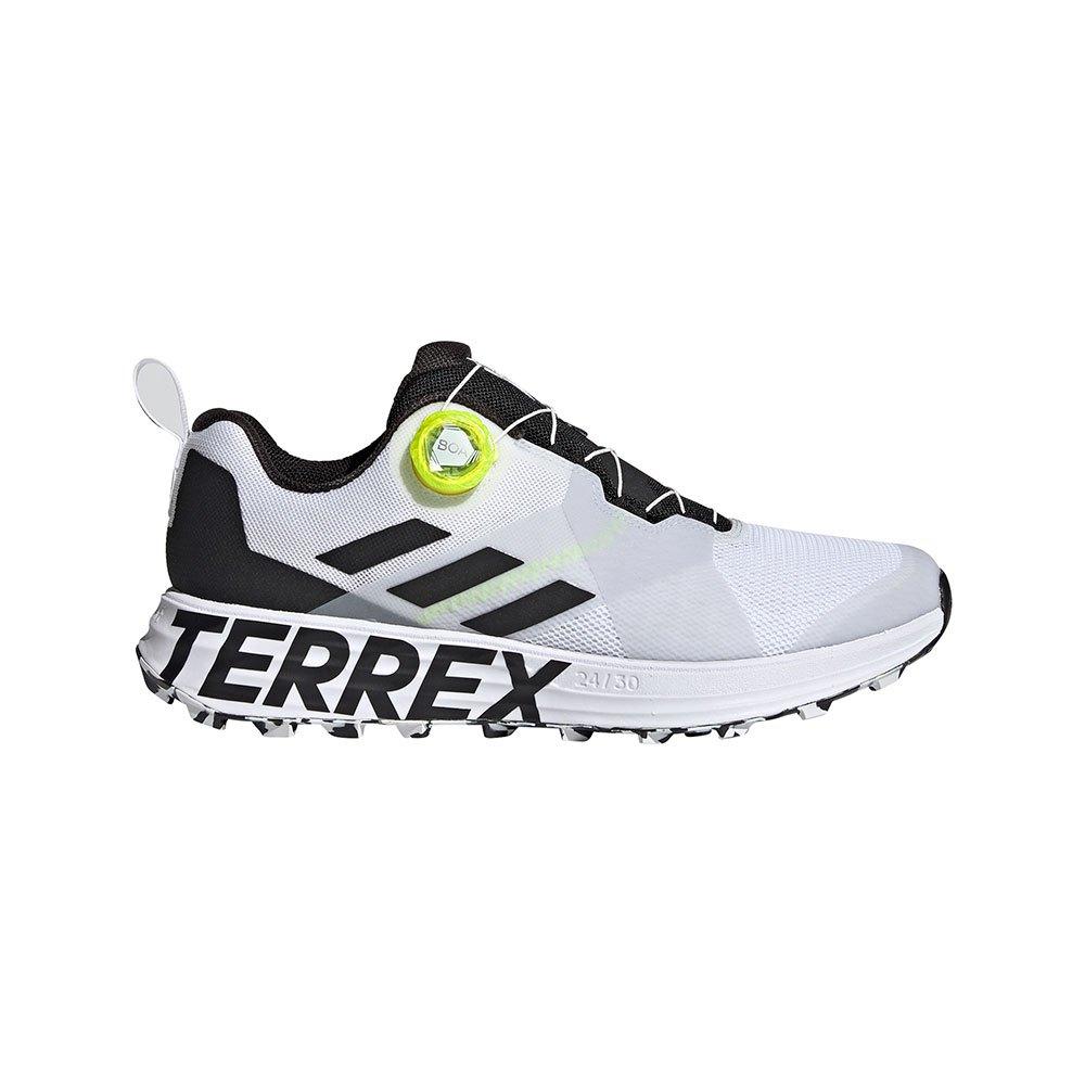 Adidas Terrex Two Boa EU 41 1/3 Non-Dyed / Core Black / Solar Yellow