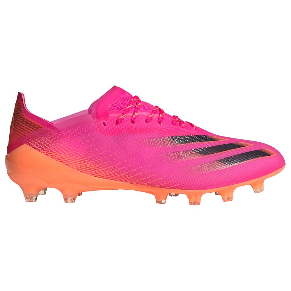 Adidas X Ghosted .1 Ag Football Boots EU 42 Shock Pink / Core Black / Screaming Orange