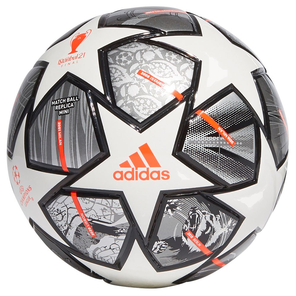 Adidas Finale 21 20th Anniversary Ucl Mini Football Ball 1 White / Iron Met. / Silver Met.