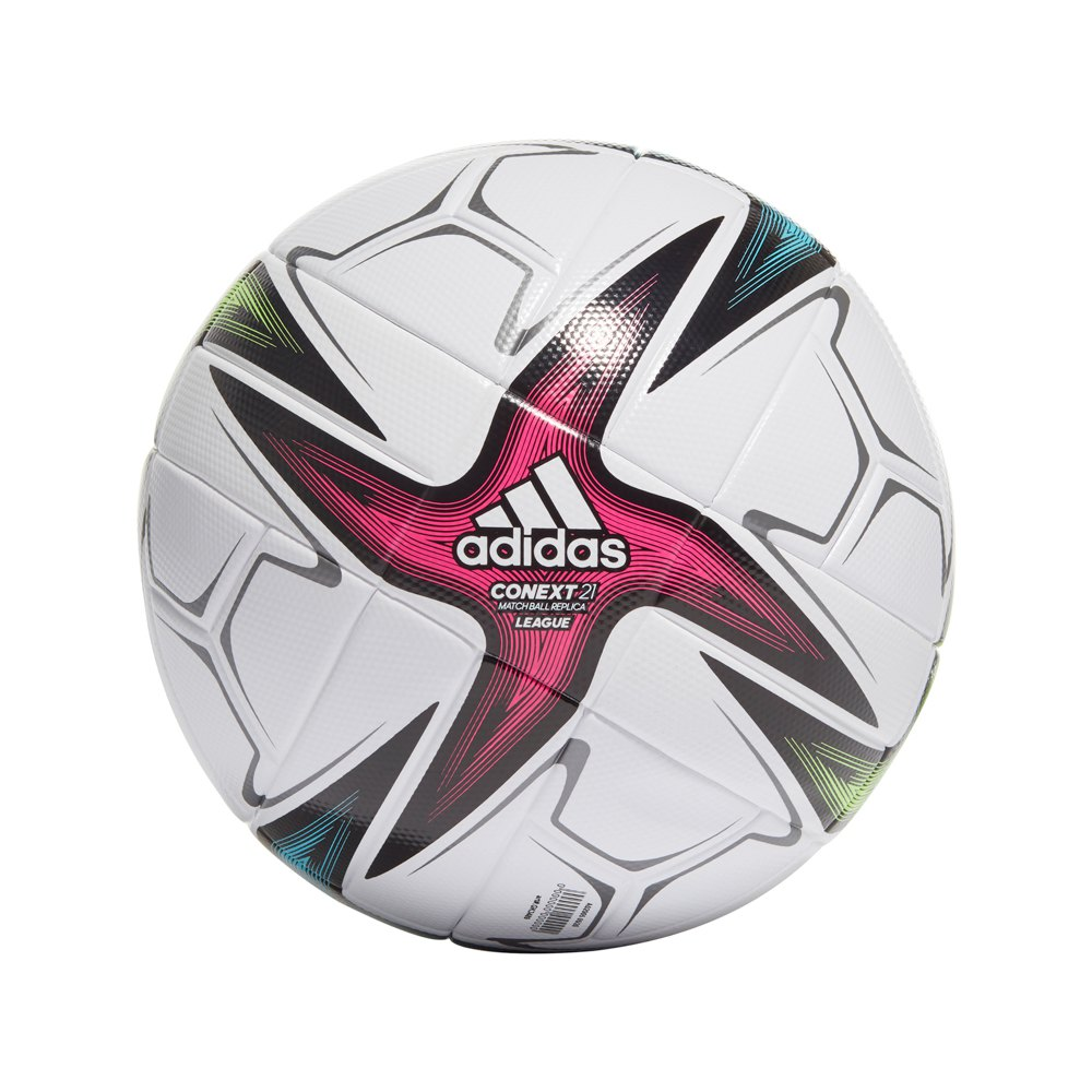 Adidas Conext 21 League Football Ball 5 White / Black / Shock Pink / Signal Green
