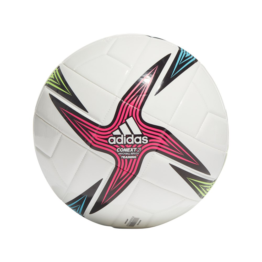 Adidas Conext 21 Training Football Ball 5 White / Black / Shock Pink / Signal Green