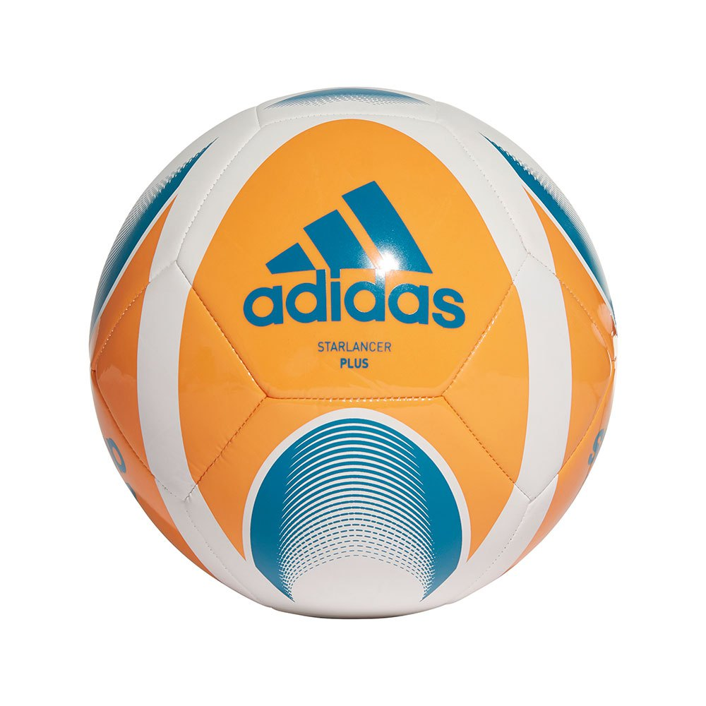 Adidas Starlancer Plus Football Ball 4 White / Bright Orange / Active Teal