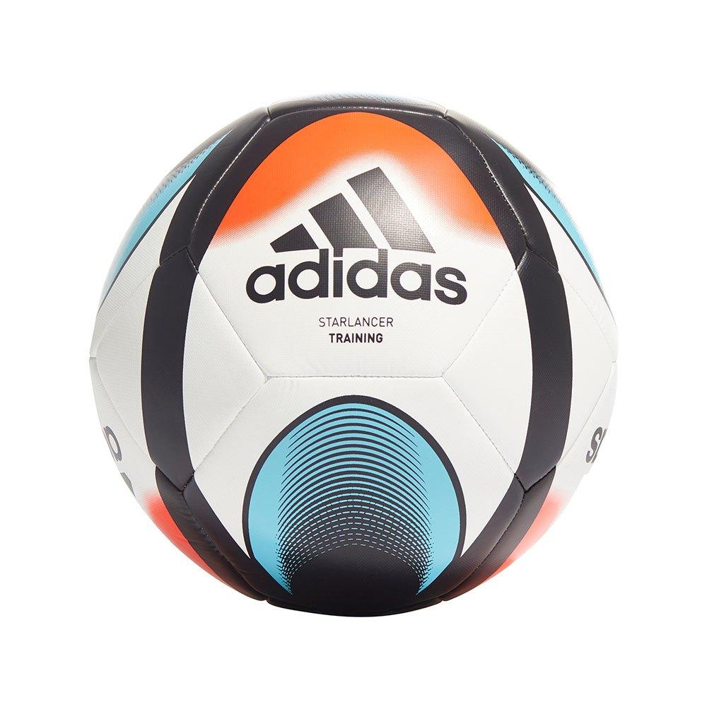 Adidas Ballon Football Starlancer Training 3 White / Black / Solar Red / Bright Cyan