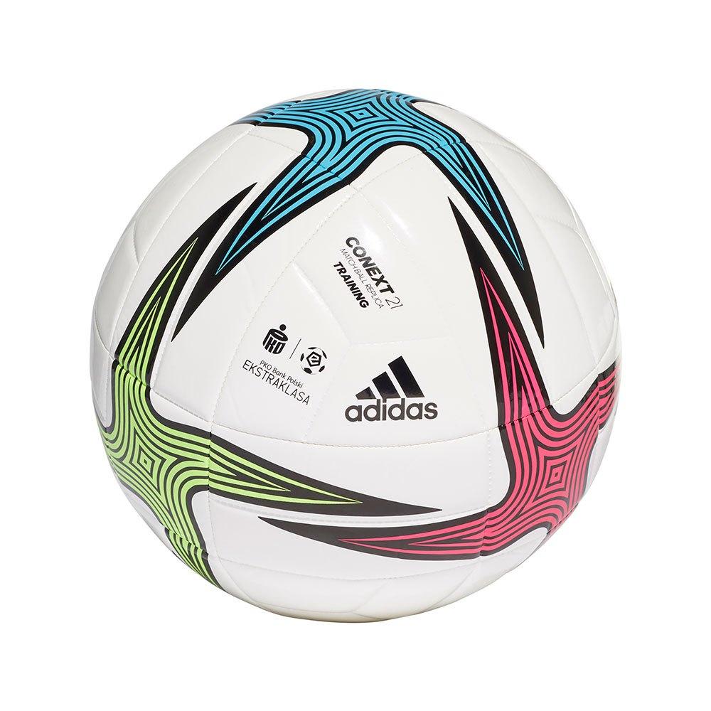 Adidas Ballon Football Ekstraklasa Training 5 White / Black / Shock Pink / Signal Green