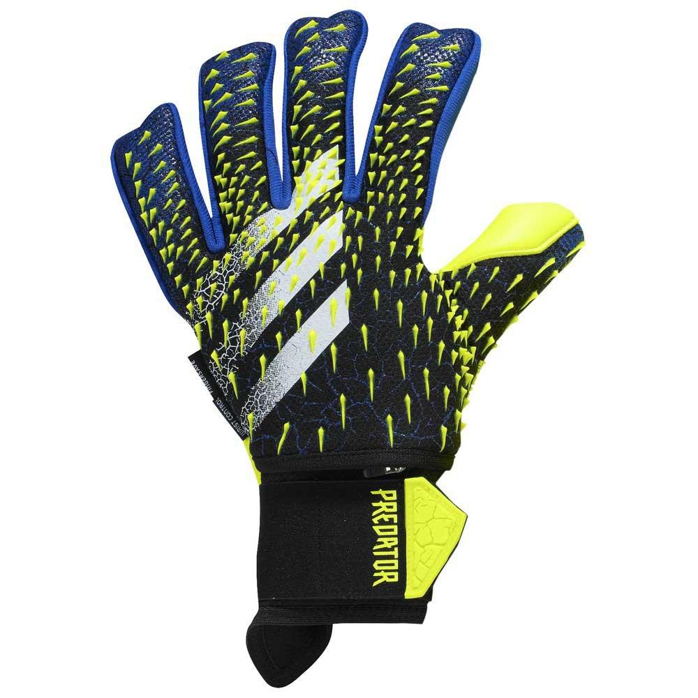 Adidas Predator Pro Ultimate Goalkeeper Gloves 10 Black / Team Royal Blue / Solar Yellow / White