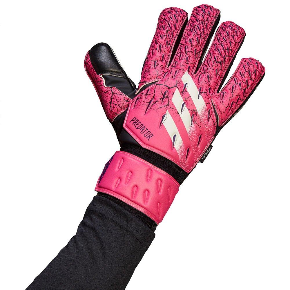 Adidas Predator Match Fingersave Goalkeeper Gloves 10 1/2 Shock Pink / Collegiate Purple / Black / White