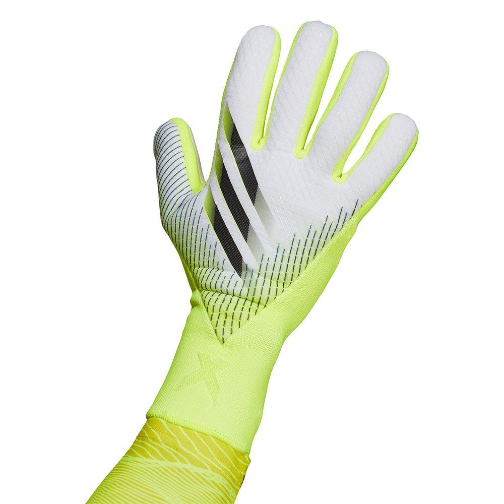 Adidas X Pro Goalkeeper Gloves 10 Solar Yellow / Black / White