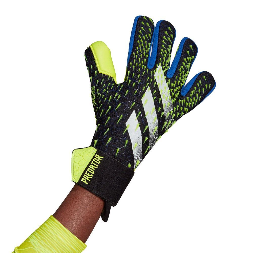 Adidas Predator Competition Goalkeeper Gloves 10 1/2 Black / Team Royal Blue / Solar Yellow / White
