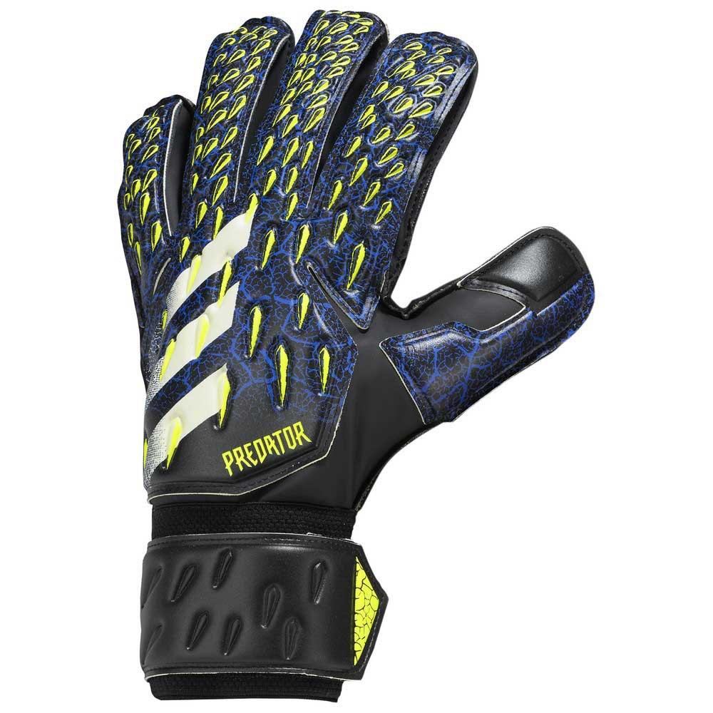 Adidas Predator Match Goalkeeper Gloves 10 Black / Team Royal Blue / Solar Yellow / White