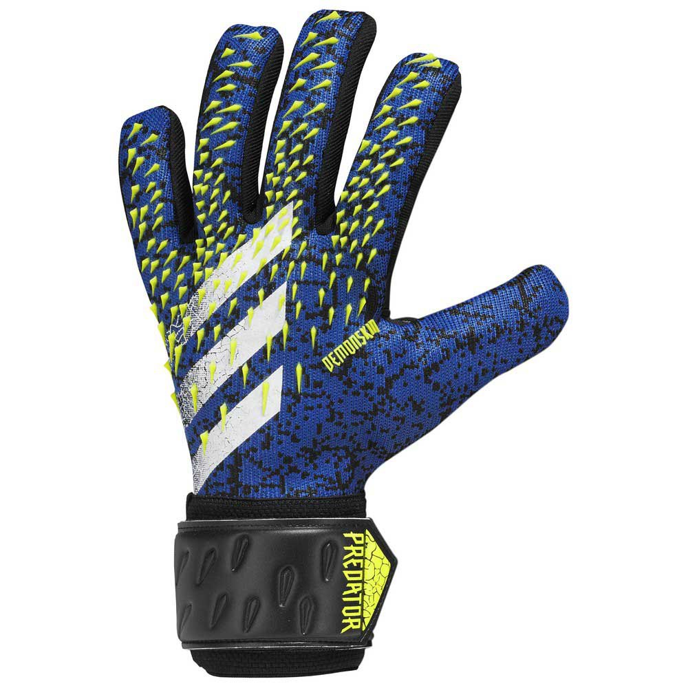 Adidas Predator League Goalkeeper Gloves 10 1/2 Black / Team Royal Blue / Solar Yellow / White