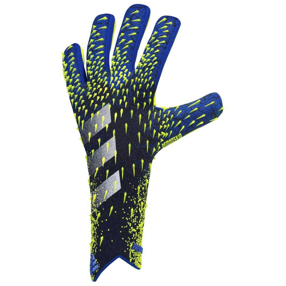 Adidas Predator Pro Goalkeeper Gloves 10 Black / Team Royal Blue / Solar Yellow / White