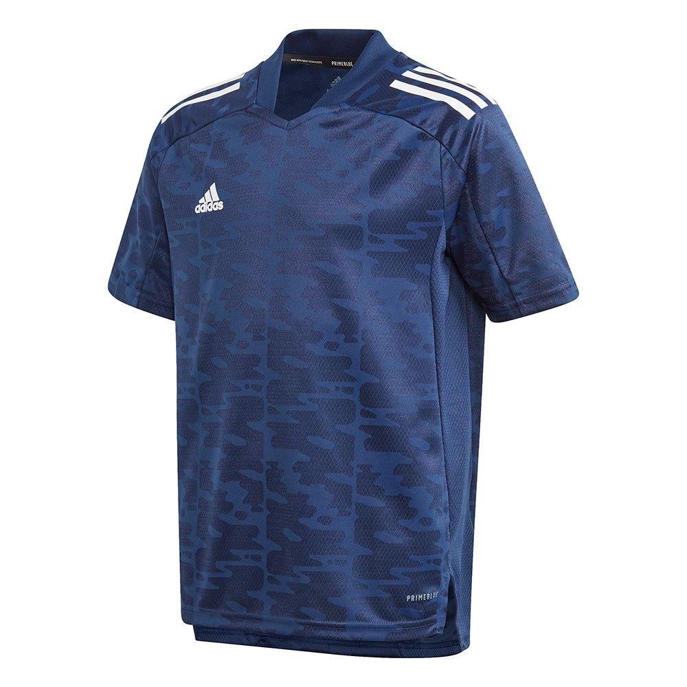 Adidas T-shirt Manche Courte Condivo 21 Primeblue 140 cm Team Navy Blue / White