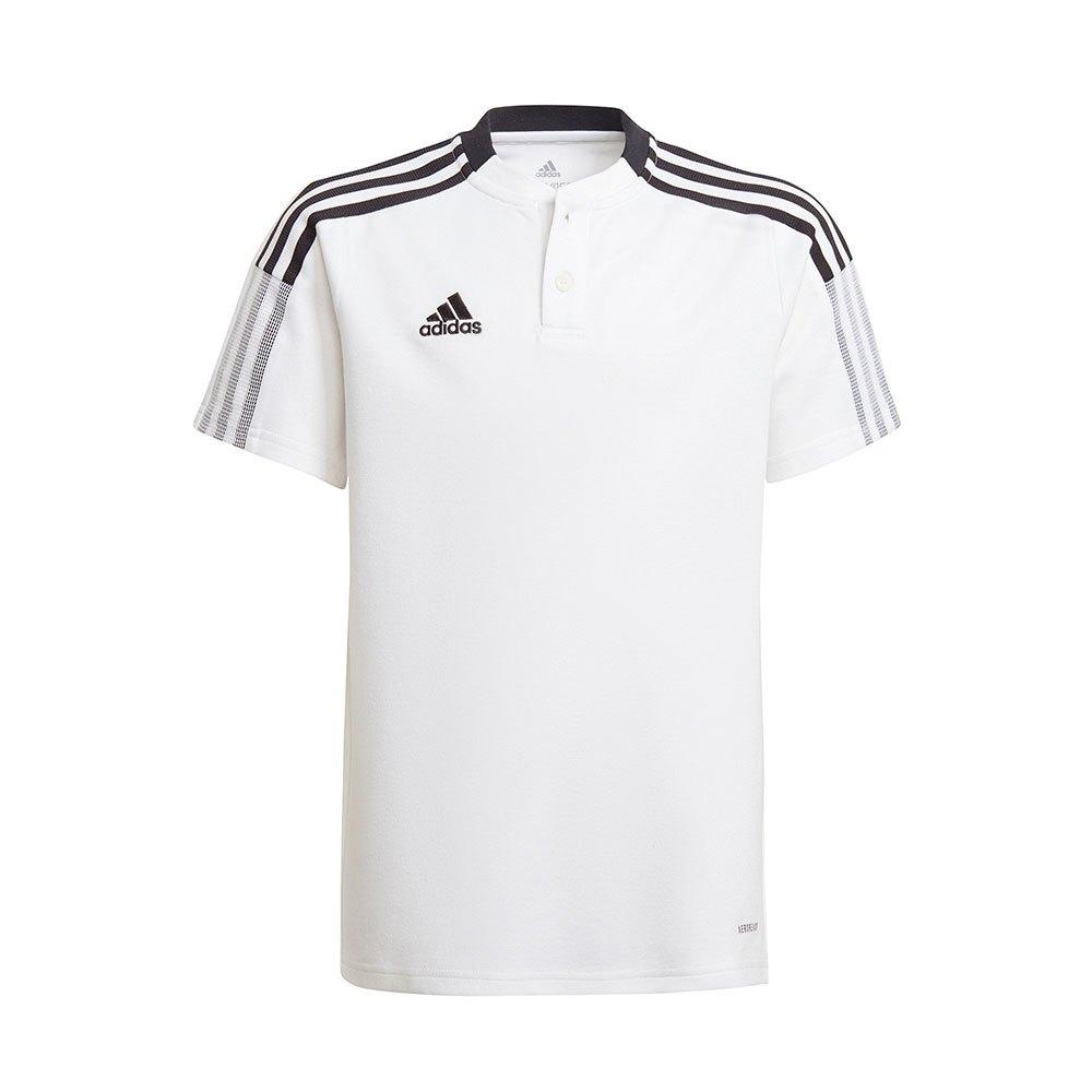 Adidas Polo Manche Courte Tiro 21 116 cm White