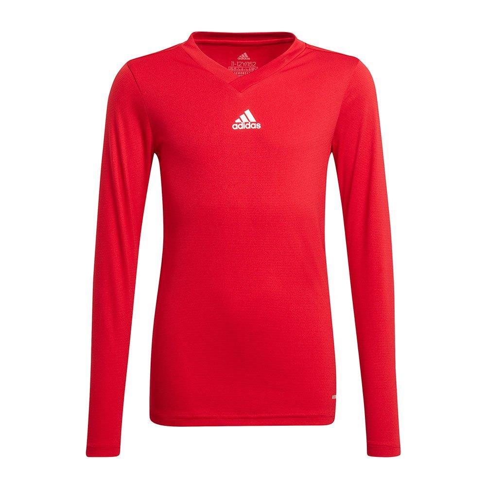 Adidas Team Base T-shirt Manche Longue 176 cm Team Power Red
