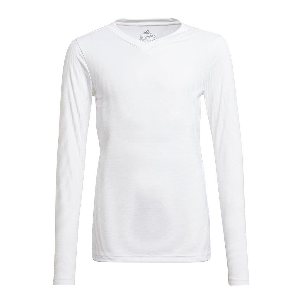 Adidas Team Base T-shirt Manche Longue 140 cm White