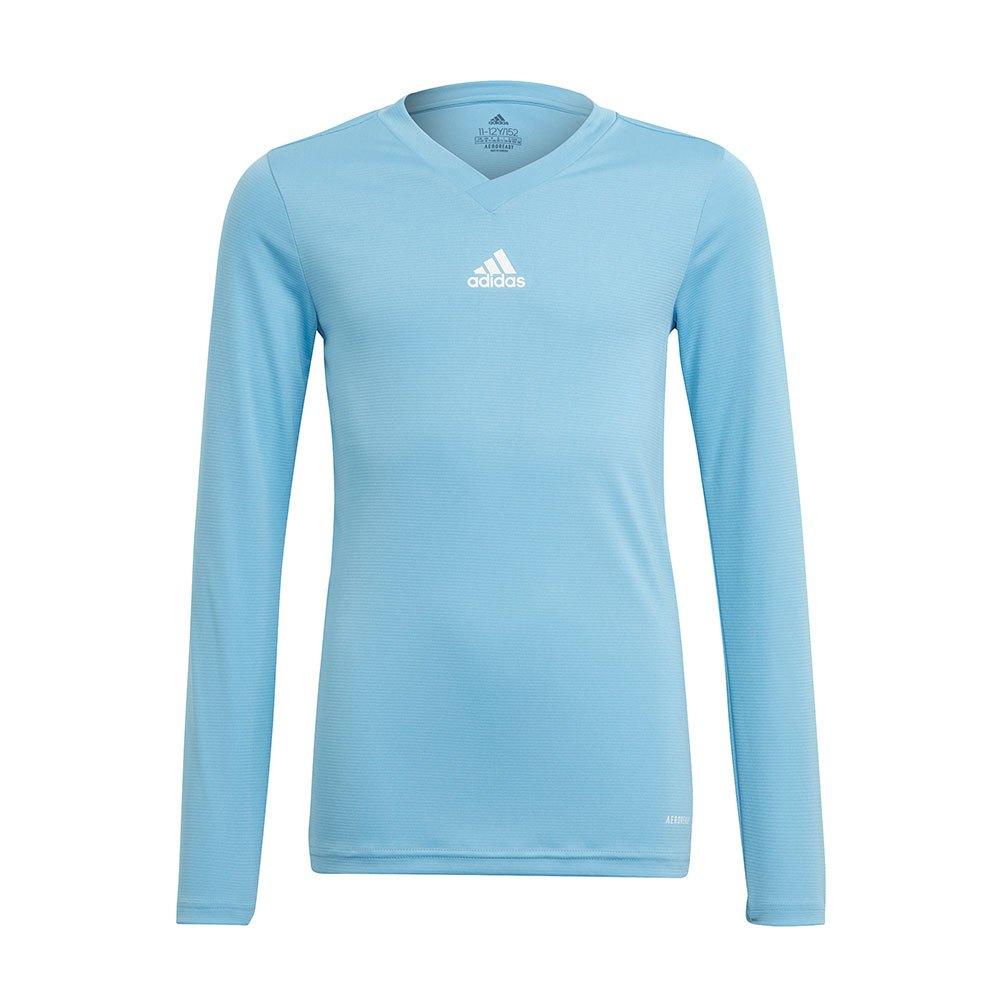 Adidas Team Base T-shirt Manche Longue 164 cm Team Light Blue