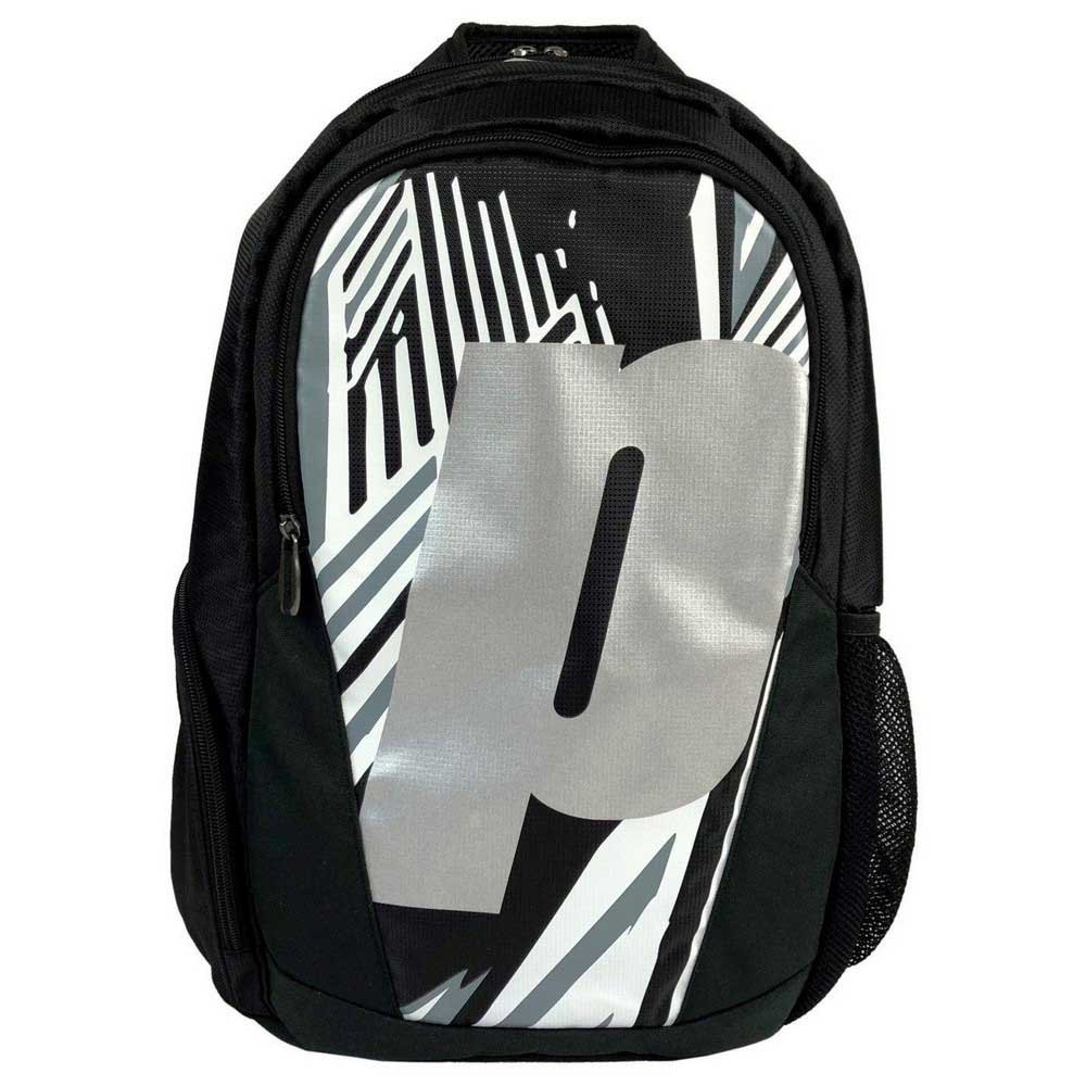 Prince Backpack One Size Black / White / Silver