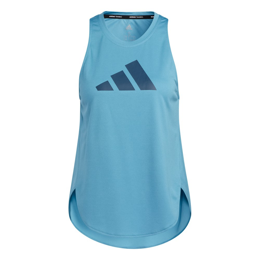 Adidas T-shirt Sans Manches 3 Bar Logo S Hazy Blue / Crew Navy / Crew Navy