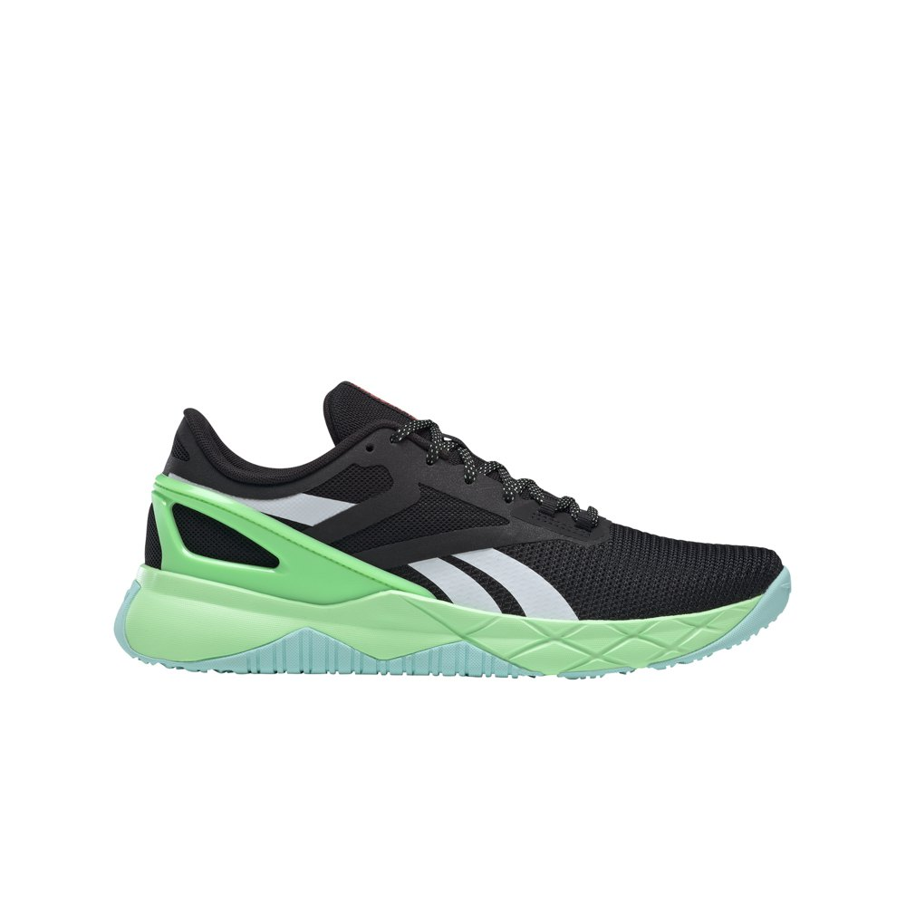 Reebok Chaussures Nanoflex Tr EU 45 Core Black / Digital Glow / Neon Mint