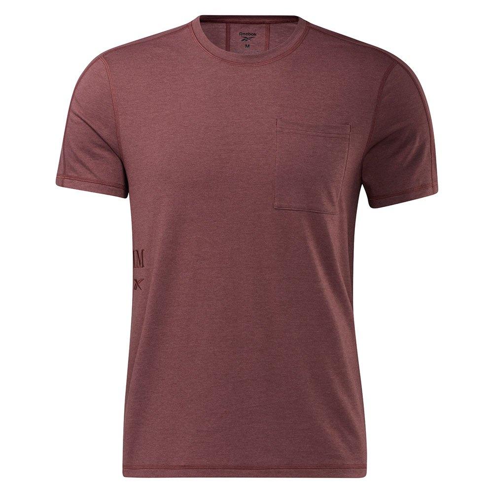 Reebok T-shirt Manche Courte Les Mills® Pocket L Rich Red Mel.-R