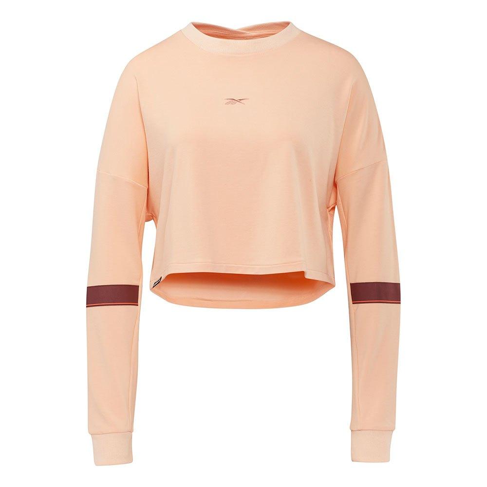 Reebok Sweatshirt Les Mills® Lightweight French Terry Crew XL Aura Orange