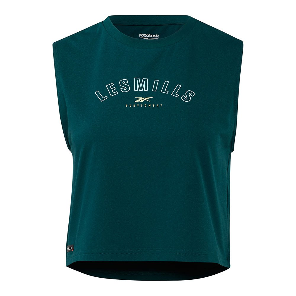 Reebok T-shirt Sans Manches Les Mills® Bodycombat Cropped L Forest Green