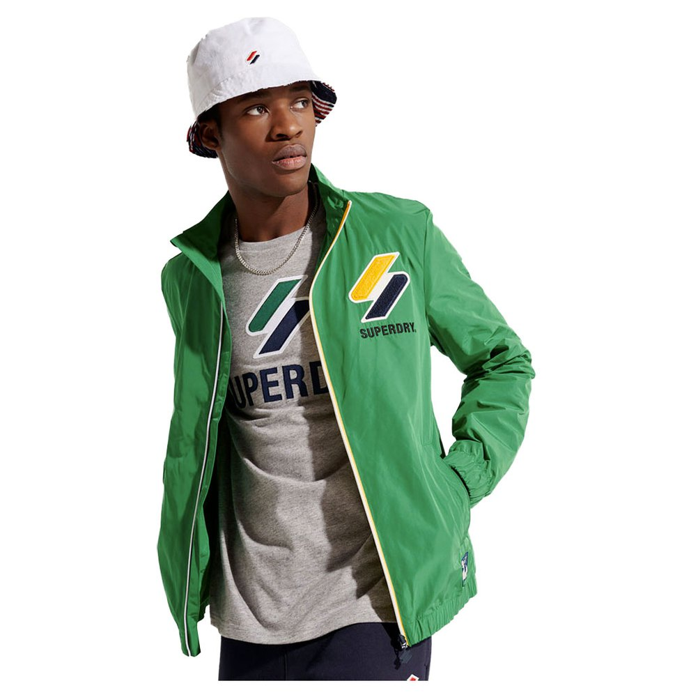 Superdry Track Cagoule L Oregon Green