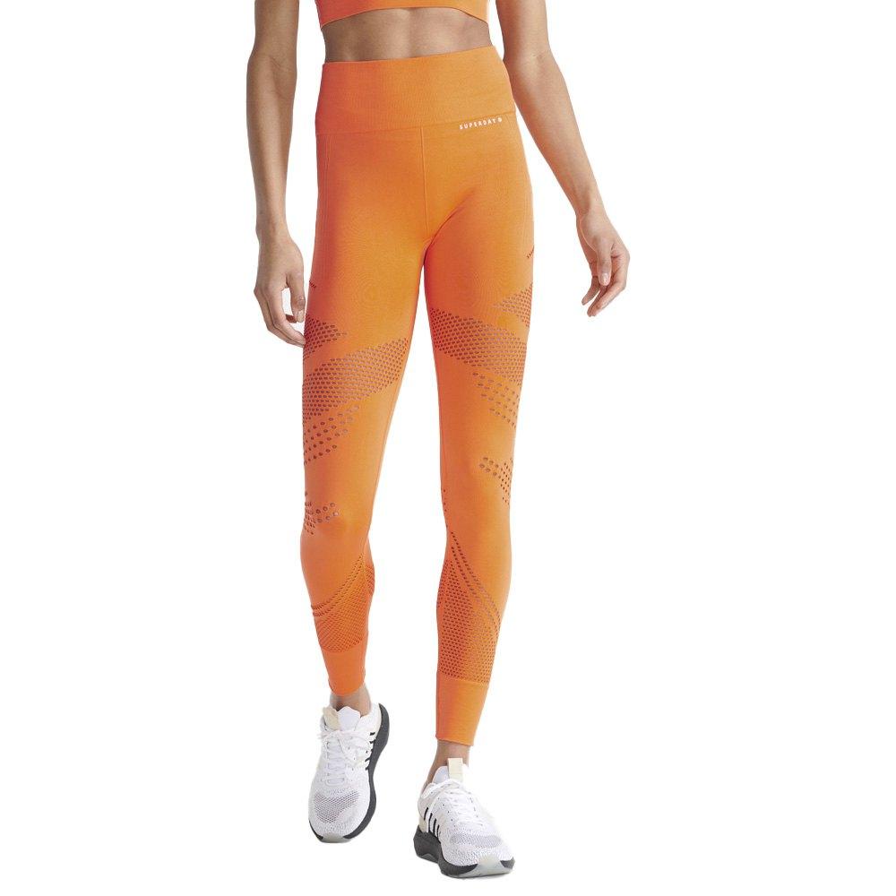 Superdry Legging Training Contour L Jaffa Orange