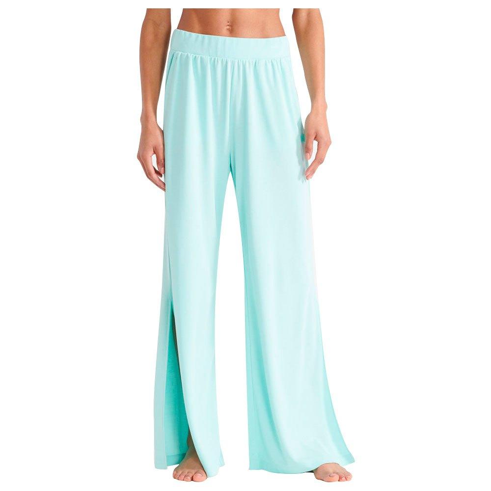 Superdry Pantalon Longue Flex Wide Leg M Cali Blue