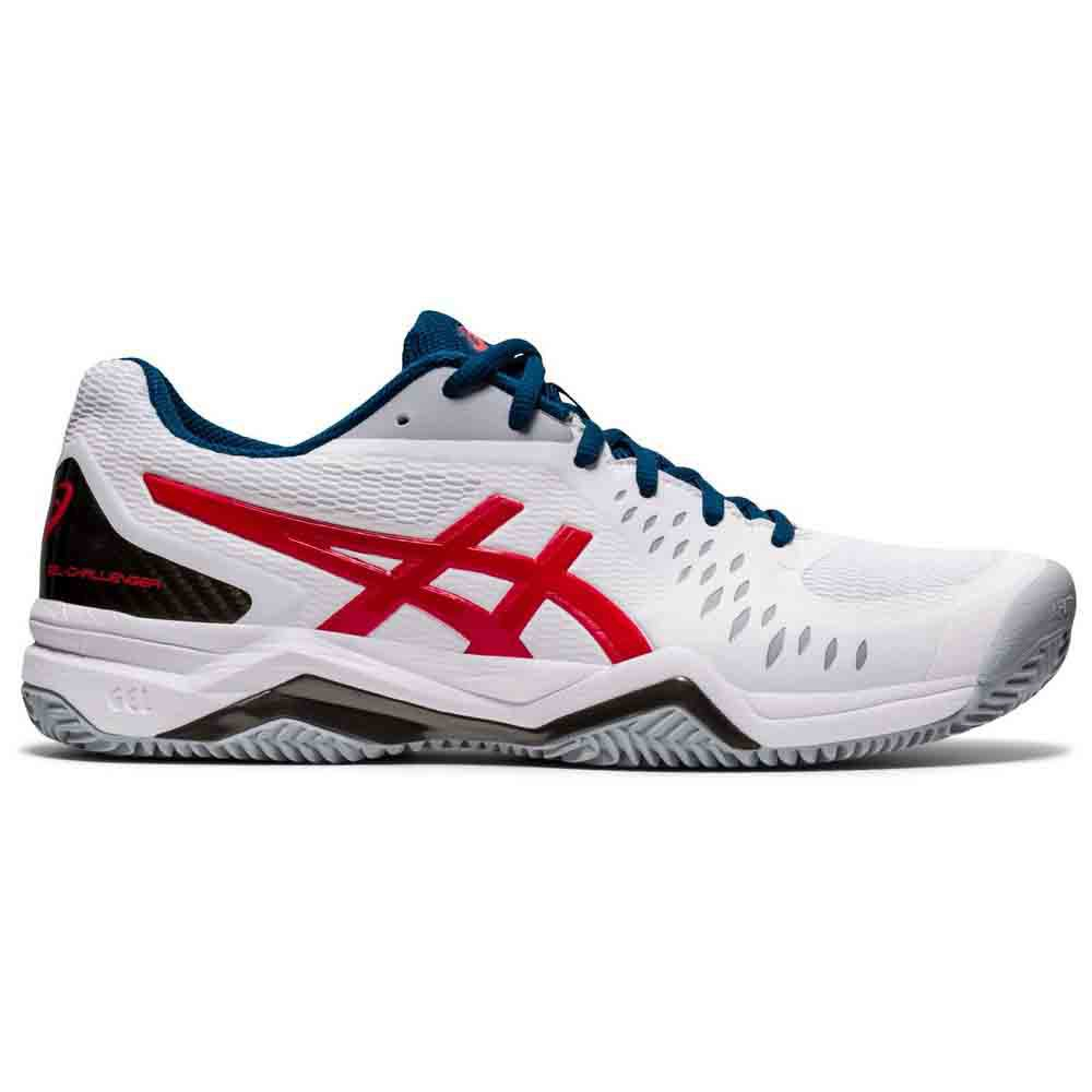 Asics Gel Challenger 12 Clay EU 50 1/2 White / Classic Red