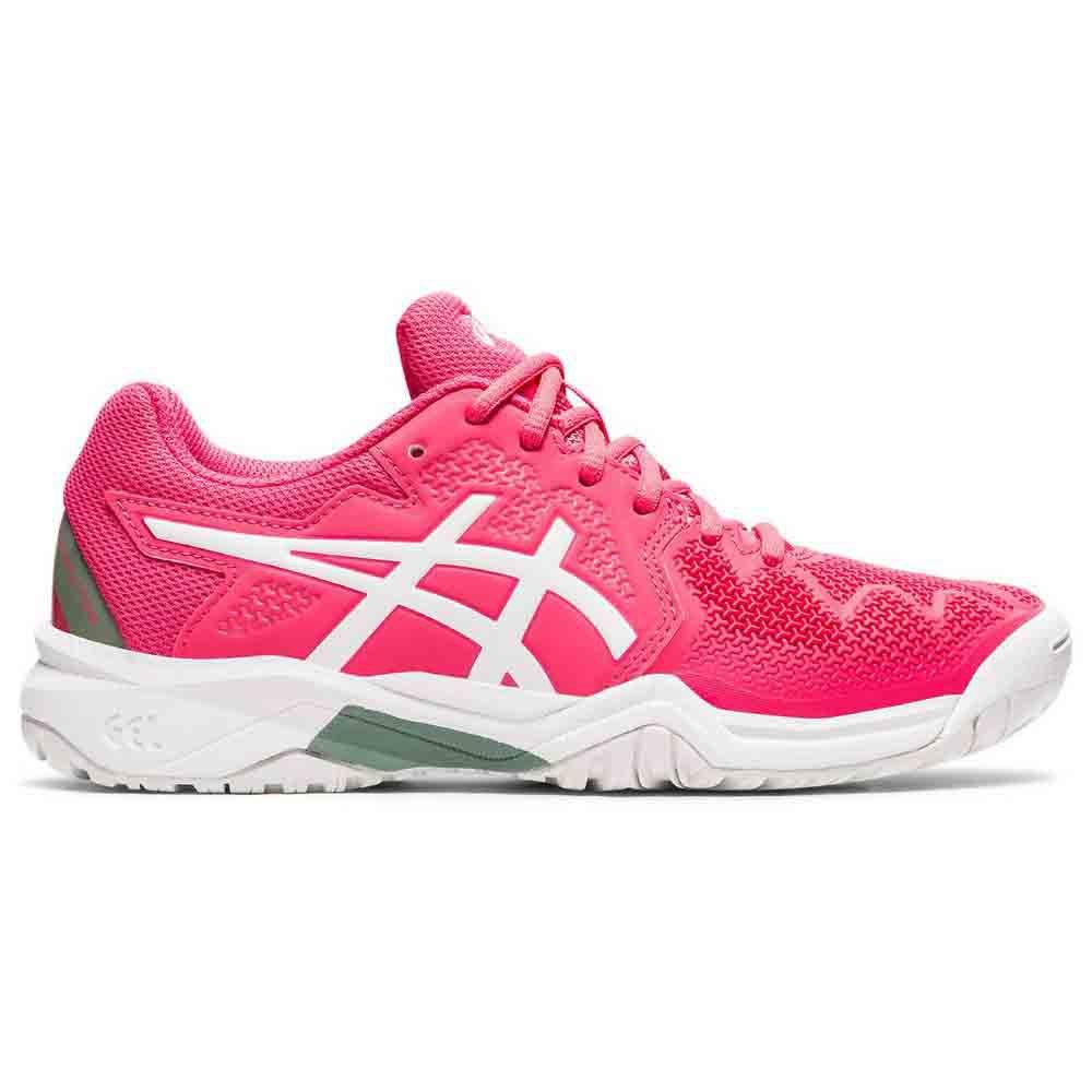 Asics Zapatillas Gel Resolution 8 Gs EU 32 1/2 Pink Cameo / White
