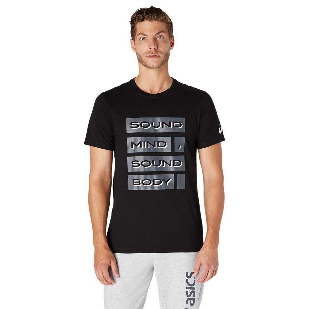 Asics T-shirt Manche Courte Sound Mind Sound Body Graphic Iii XXL Performance Black