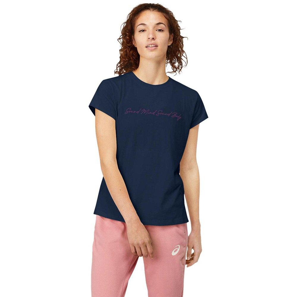 Asics T-shirt Manche Courte Sound Mind Sound Body Graphic Ii L French Blue