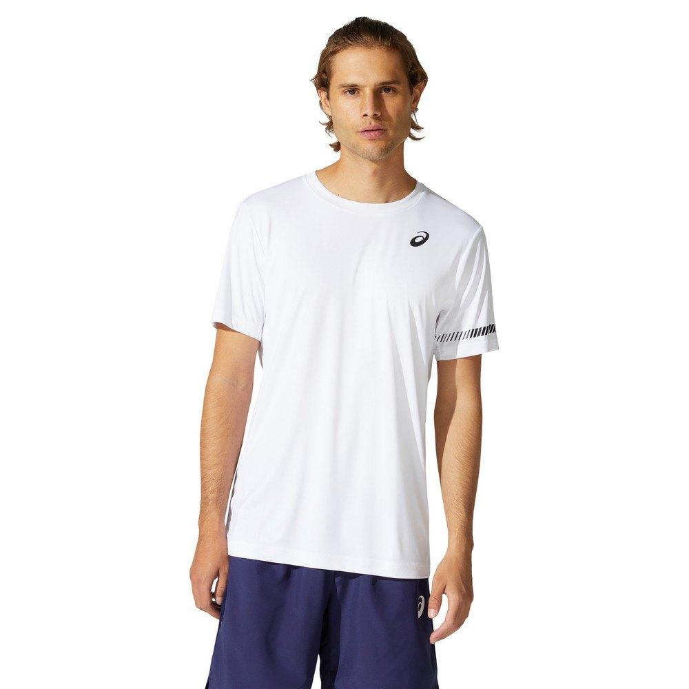 Asics T-shirt Manche Courte Court L Brilliant White