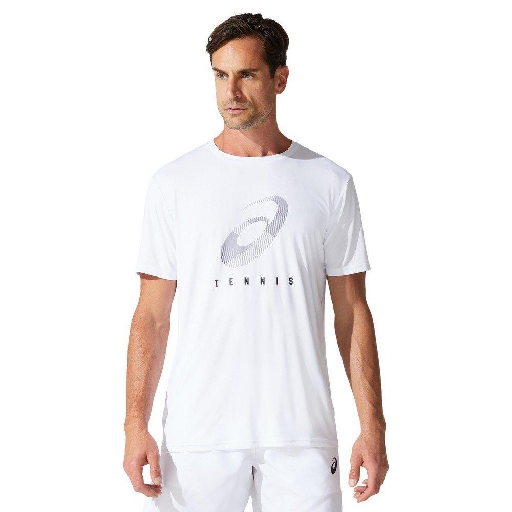 Asics T-shirt Manche Courte Court Spiral L Brilliant White